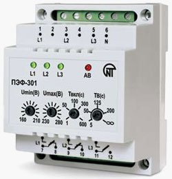 Автоматический электронный переключатель фаз ПЭФ-301